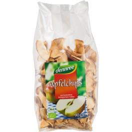 DENNREE Chipsuri din mere, 90 grame de ambalaj
