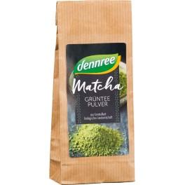 DENNREE Matcha, Pudra de ceai verde, 30 grame de ambalaj