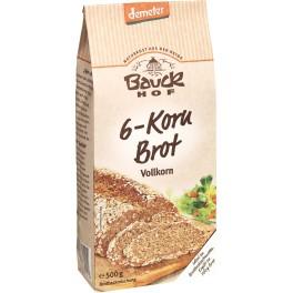 Bauck Hof paine cu 6 cereale, cereale integrale, 500 gr ambalaj