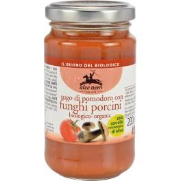 Alce Nero Sos de rosii cu ciuperci porcini, 200 gr