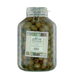 Bio-verde - masline verzi umplute cu paprika, 4,75 kg