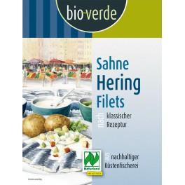 Bio-verde file de hering  cu smantana, 350 grame ambalaj