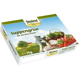 Okoland Verdeturi si leguminoase pentru supa fin tocate, cutie 75g
