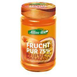 Allos Frucht Pur 75% - Piersici si fructul pasiunii, 250 gr