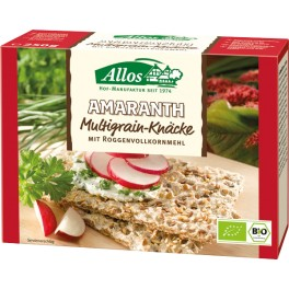 Allos Crackers integrali cu amarant si mix de cereale (multigrain), 250 gr