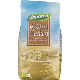 DENNREE fulgi 6-cereale 500 grame de ambalaj