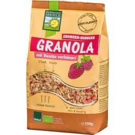 Bohlsener granola capsuni, zmeura, 350 grame ambalaj