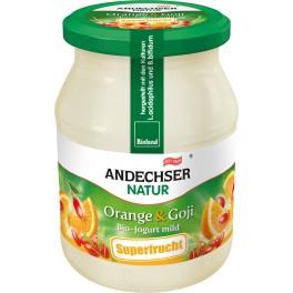 Andechser Natur - Iaurt cu portocale si goji, 500 gr