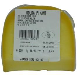 Aurora Gold -  branza bio picanta, aproximativ  250 gr