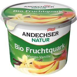 "Andechser Natur - Branza cremoasa ""quark"" cu mango si vanilie, 450 gr"