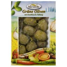 Bio-verde - masline verzi umplute cu usturoi, cu mirodenii