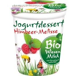 Bio Wiesenmilch - Desert din iaurt cu zmeura si roinita, 150 gr