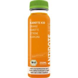 Antidote - Suc bio de morcovi pentru copii 250 ml