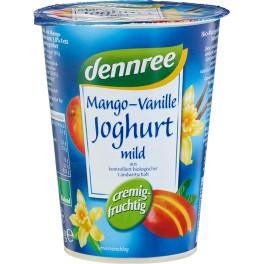 DENNREE iaurt cu fructe - mango si vanilie 400 gr