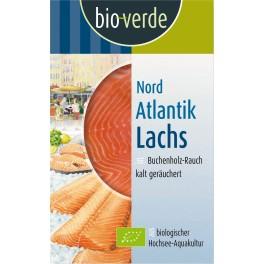 Bio-verde somon Nord-Atlantic, usor afumat, 100 gr