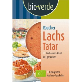 Bio-verde somon afumat tartar, 125 grame