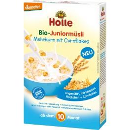 Holle  Bio-Juniormusli multicereale cu fulgi de porumb, 250 pachet