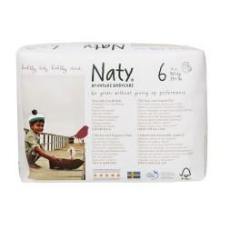 Naty,Scutece-chilotel impermeabili, Marimea 6, 16+ kg, 18 buc/pachet