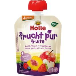 Holle, Piure de fructe: mere, piersici si fructe de padure, 90 gr