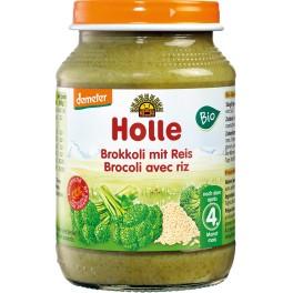 Holle,Preparat din broccoli si orez integral, 190 gr