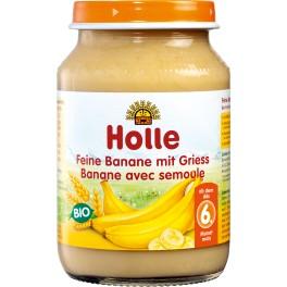 Holle, Piure de banane cu gris, 190 gr