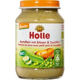 Holle, Cartofi cu mazare si dovlecei Zucchini, 190 gr