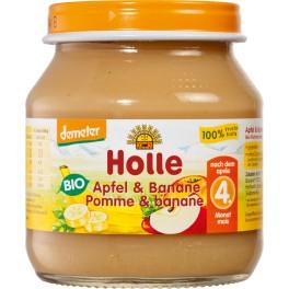 Holle, Piure mere si banane  125 gr
