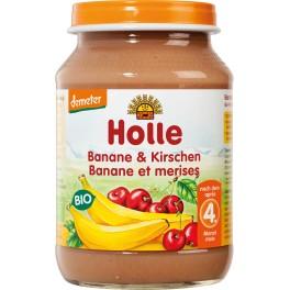 Holle, Banane si cirese, 190 gr pahar