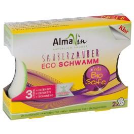 """Alma Win """"Curatare de vis"""" Burete eco pentru vase 2 bucati"""