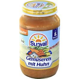 Sunval, Orez cu legume si pui, 220 gr