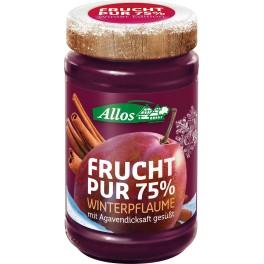 Allos Frucht Pur 75% - Prune si scortisoara, 225 gr